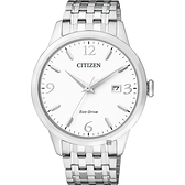 CITIZEN 星辰 光動能紳士手錶-白x銀/40mm BM7300-50A