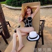 泳衣女新款韓國泳裝保守遮肚小胸鋼托聚攏顯瘦性感溫泉游泳衣女連身度假 至簡元素