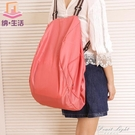 超大容量雙肩購物袋 創意可摺疊帆布收納包 便攜式防水環保袋大號【果果新品】