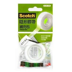 【奇奇文具】【3M Scotch 隱形膠帶】810R-10M(19mm) 隱形膠帶補充包