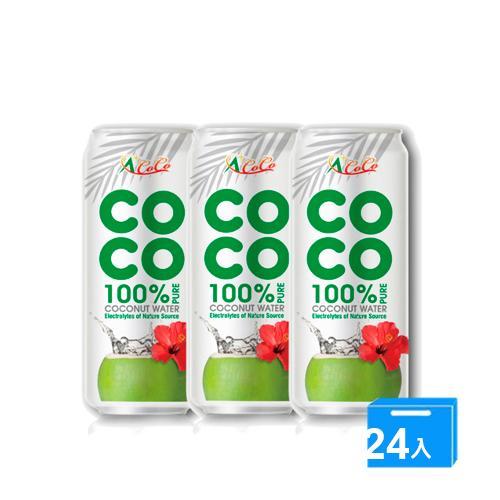 椰活100%純椰子水500mlx24入/箱【愛買】