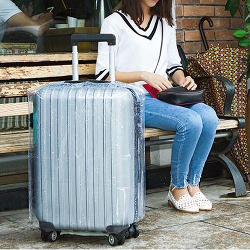 22吋行李箱透明加厚耐磨防水保護套 拉桿箱套 旅行箱套