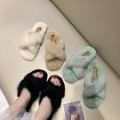 仙女拖鞋 毛毛拖鞋女網紅2021韓版新款夏季外穿社會鞋子時尚孕婦半涼拖ins