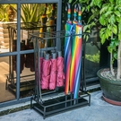 家用傘架子北歐創意雨具收納架鐵藝放傘筒摺疊酒店大堂辦公雨傘架 果果輕時尚NMS