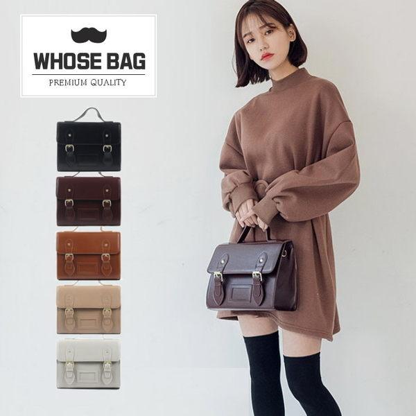 【WHOSE BAG】韓國嚴選復古掀蓋皮革側背包 NO.LM162