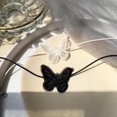 蕾絲蝴蝶項圈項鍊女潮頸帶頸鍊