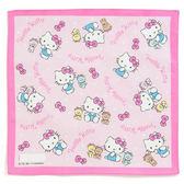 Sanrio HELLO KITTY日本製純棉手帕(手繪TINY CHUM)★funbox生活用品★_072851