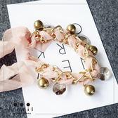 粉紅芭比~蕾絲風粉嫩珠珠手鍊702114/1色