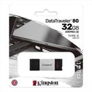 新風尚潮流 【DT80/32GB】 金士頓 高速隨身碟 32G DT80 USB 3.2 TYPE-C 讀200MB