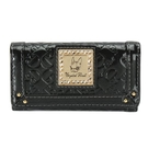 Crystal Ball 鑽飾金牌LOGO壓印鑰匙鎖包(鐵灰黑色)167001
