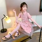洋裝 女童短袖洋裝連衣裙夏裝新款中大童洋氣夏天衣服十歲女孩公主裙子 快速出貨