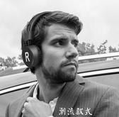 不傷耳藍芽耳機頭戴式炫酷時尚手機男女通用型運動隔音可接聽電話無線藍芽白