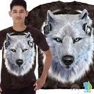【摩達客】美國進口The Mountain 黑底DJ白狼 純棉環保短袖T恤(YTM104170573174)