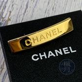 BRAND楓月 CHANEL香奈兒 99年/P A12070 經典LOGO 金色 領帶夾 髮夾 長型 VINTAGE