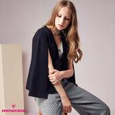 【SHOWCASE】風格袖岔西裝外套(黑)