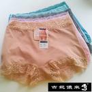 【吉妮儂來】舒適加大尺碼繡花邊中低腰安全褲~6件組 (隨機取色/尺寸Free)