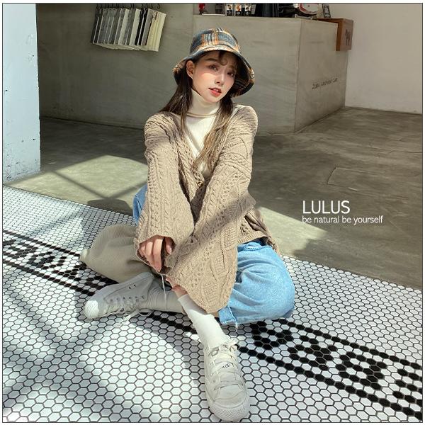 LULUS-獨家打版Q腿割破牛仔男友褲S-XL-藍【04190259】