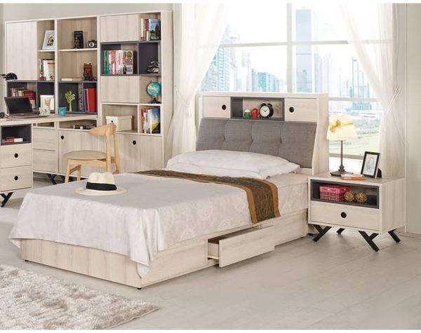 【新北大】✪ B063-1 優娜3.5尺被櫥式單人床(床頭+床底)-18購