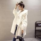 外套女 外套中長款女風衣2021年秋裝新款韓版潮bf學生寬松百搭連帽開衫潮 霓裳細軟