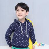 《Azio 男童》連帽上衣 不倒絨船錨口袋連帽上衣(藍)