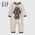 Gap嬰兒 星際大戰主題長袖針織包屁衣 599830-燕麥灰