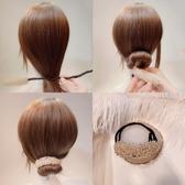 盤髮器正韓氣質水晶串珠盤髮器韓式百變蓬鬆懶人花苞頭造型器髮卡丸子頭
