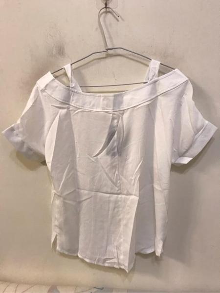 性感氣質修身顯瘦一字領上衣(S號/222-4490)
