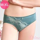 內褲 雙色刺繡健康蠶絲機能款(綠色)【Daima黛瑪】