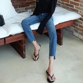 牛仔褲 牛仔褲女夏秋2020款韓版顯瘦寬鬆chic直筒褲女闊腿九分微喇叭八分 年前鉅惠