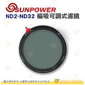 SUNPOWER N2 ND2~ND32 磁吸可調式濾鏡 cine 電影版 減光鏡 ND + CPL 公司貨