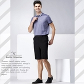 【Emilio Valentino】范倫鐵諾城市樂活休閒短褲_黑