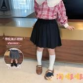 女童防走光百褶裙素色兒童百搭半身裙寶寶學院風短裙【淘嘟嘟】