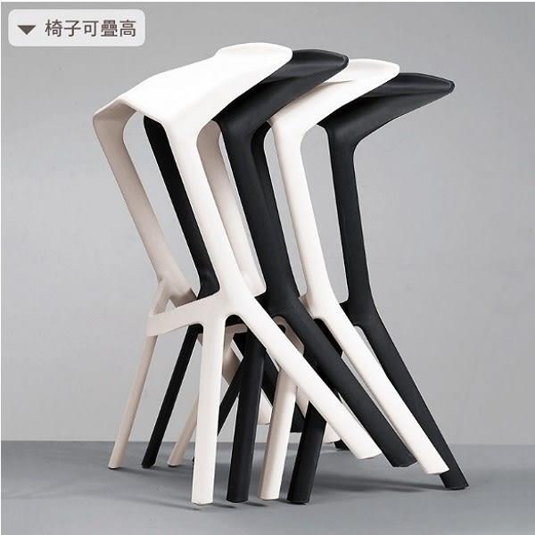 【森可家居】珊蒂造型椅(黑) 7CM530-8 吧台椅 高腳椅