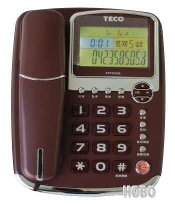 東元TECO XYFXC003 來電顯示有線電話 免持撥號、語音報號 買就送手電筒