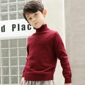 男童毛衣 男童高領毛衣打底衫加絨中大童加厚套頭兒童針織秋冬款童裝【快速出貨】