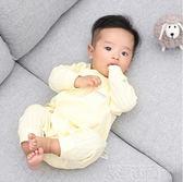 連體衣 剛出生嬰兒衣服0-3月秋裝新生兒純棉連體哈衣寶寶初生嬰幼和尚服 萌萌小寵