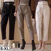 MIUSTAR 舒適磨毛!附皮帶壓褶老爺褲(共3色,S-XL)【NG001811】預購