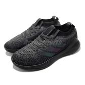 adidas 慢跑鞋 Purebounce M 黑 全黑 反光設計 襪套式 男鞋 運動鞋【PUMP306】 BB6988