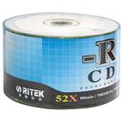 【奇奇文具】RITEK CD-R 環保白金 52X(裸裝)50入