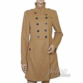 茱麗葉精品 全新精品   BURBERRY 簡約英倫風高貴典雅羊毛洋裝大衣外套.駝