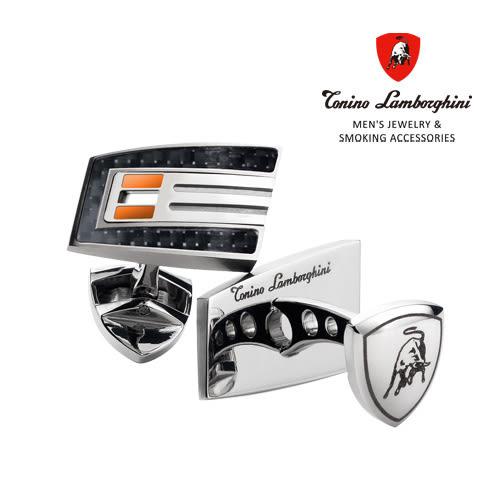 義大利 藍寶堅尼精品 -  CORSA Collection 袖扣(橘色) ★ Tonino Lamborghini 原廠進口 時尚必備行頭 ★
