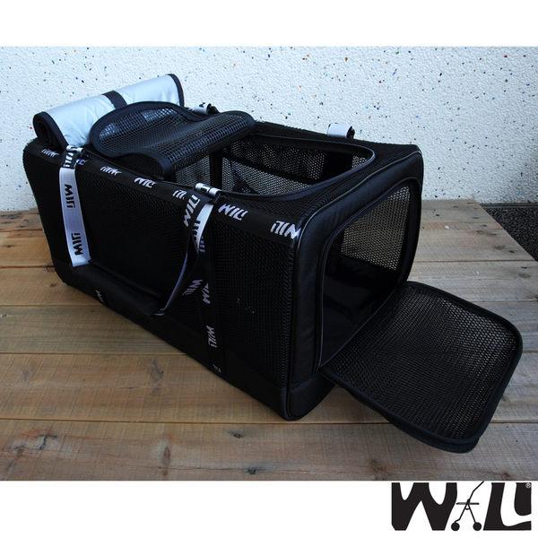 WILL設計+寵物用品*最新黑網忍者系列*超透氣 寵物 提籃 / 袋 / 外出包☆中型犬愛用☆黑網x黑色