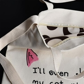 購物袋2018新款帆布袋子手提包學生補課書包斜挎單肩包女學生購物袋
