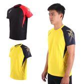 ASICS 男排羽球短袖T恤 (免運 排球 羽球 訓練 亞瑟士≡體院≡