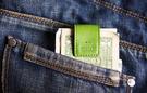 【創意小物】多功能皮革磁鐵夾 Smart Holder - 萊姆綠 Lime 鈔票夾、磁鐵鑰匙圈、集線器、書籤