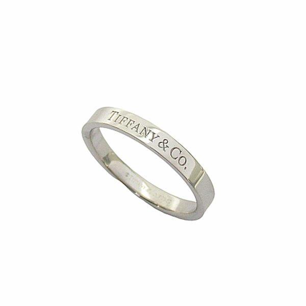 Tiffany & Co 蒂芬妮 鉑金戒指 Band Ring  18號 PT950  【二手名牌BRAND OFF】