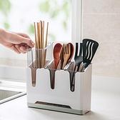 餐具收納盒分格筷子簍瀝水筷子筒置物架家用【英賽德3C數碼館】