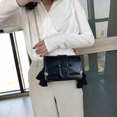 質感小包包新款時尚流蘇小方包百搭復古單肩斜背包包女潮|米莎