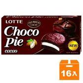 LOTTE 樂天 黑巧克力派 168g (16盒)/箱【康鄰超市】