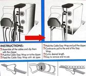 捲式纏繞管15mm.電線繞線管捲式結束保護帶包線管螺旋纏繞帶束線管束線帶